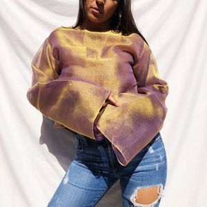 Iridescent vintage blouse
